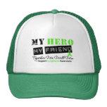 LYMPHOMA My Hero My Friend We Will Win Mesh Hat