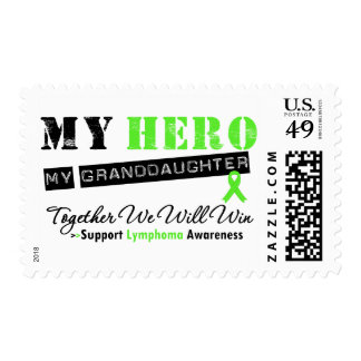 LYMPHOMA My Hero My Granddaughter We Will Win Postage Stamps