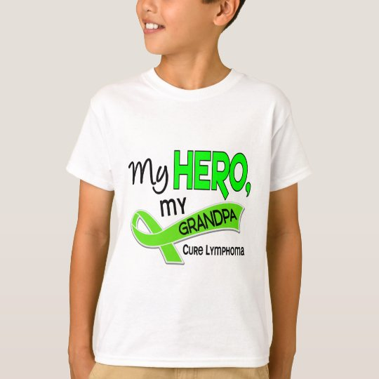 Lymphoma MY HERO MY GRANDPA 42 T-Shirt