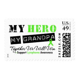 LYMPHOMA My Hero My Grandpa We Will Win Postage Stamps