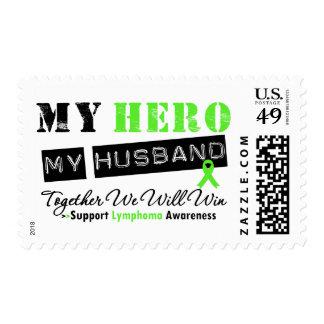 LYMPHOMA My Hero My Husband We Will Win Stamps