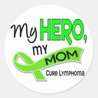 Lymphoma MY HERO MY MOM 42 Round Stickers