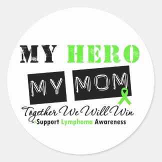 LYMPHOMA My Hero My Mom We Will Win Stickers