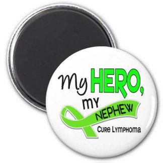 Lymphoma MY HERO MY NEPHEW 42 2 Inch Round Magnet