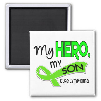Lymphoma MY HERO MY SON 42 2 Inch Square Magnet