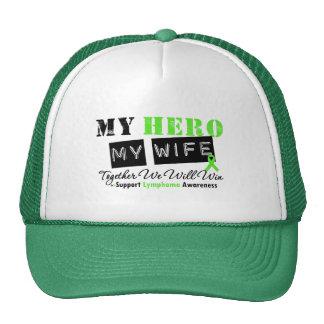 LYMPHOMA My Hero My Wife We Will Win Trucker Hat