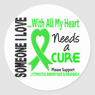 Lymphoma Needs A Cure 3 Round Stickers