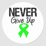 LYMPHOMA Never Give Up Classic Round Sticker