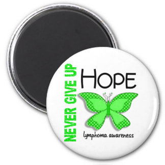 Lymphoma Never Give Up Hope Butterfly 4.1 2 Inch Round Magnet