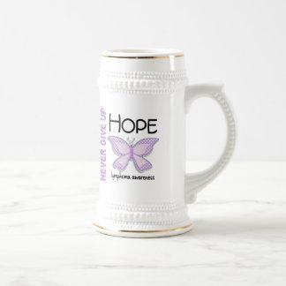 Lymphoma Never Give Up Hope Butterfly 4.1 Coffee Mug