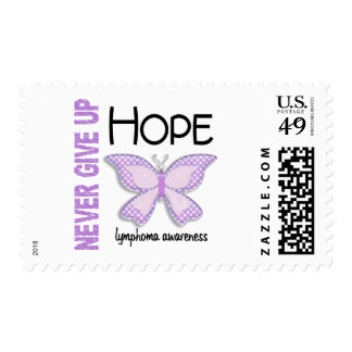 Lymphoma Never Give Up Hope Butterfly 4.1 Postage Stamp