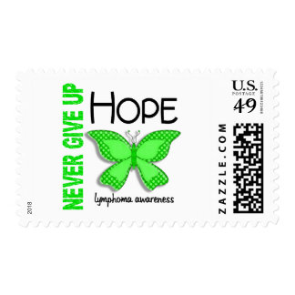 Lymphoma Never Give Up Hope Butterfly 4.1 Postage Stamps