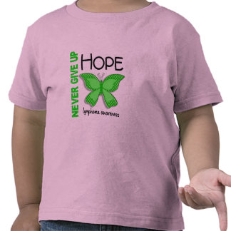 Lymphoma Never Give Up Hope Butterfly 4.1 T-shirts