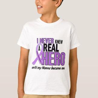 Lymphoma NEVER KNEW A HERO 2 Nonna T-Shirt