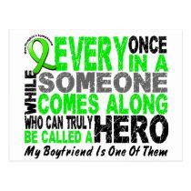 Lymphoma Non-Hodgkins HERO COMES ALONG 1 Boyfriend Postcard