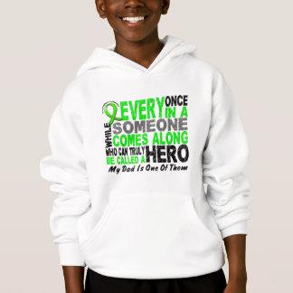 Lymphoma Non-Hodgkins HERO COMES ALONG 1 Dad Hoodie