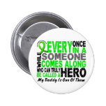 Lymphoma Non-Hodgkins HERO COMES ALONG 1 Daddy Buttons