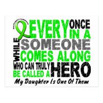 Lymphoma Non-Hodgkins HERO COMES ALONG 1 Daughter Postcard