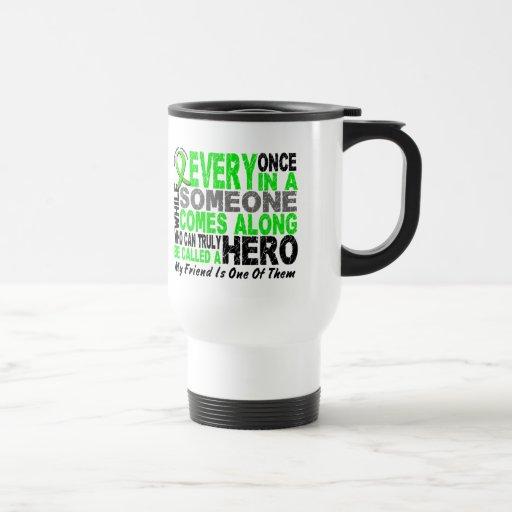 Lymphoma Non-Hodgkins HERO COMES ALONG 1 Friend Mugs