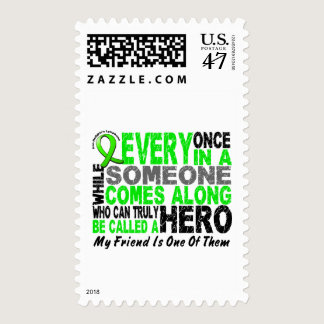 Lymphoma Non-Hodgkins HERO COMES ALONG 1 Friend Postage