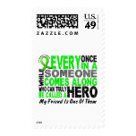 Lymphoma Non-Hodgkins HERO COMES ALONG 1 Friend Postage Stamp
