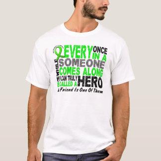 Lymphoma Non-Hodgkins HERO COMES ALONG 1 Friend T-Shirt