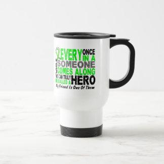 Lymphoma Non-Hodgkins HERO COMES ALONG 1 Friend Travel Mug