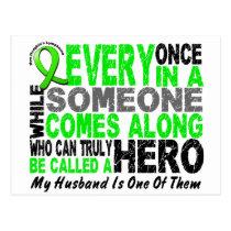 Lymphoma Non-Hodgkins HERO COMES ALONG 1 Husband Postcard