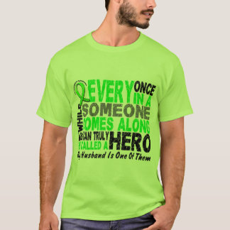 Lymphoma Non-Hodgkins HERO COMES ALONG 1 Husband T-Shirt