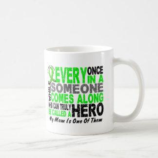 Lymphoma Non-Hodgkins HERO COMES ALONG 1 Mom Coffee Mug