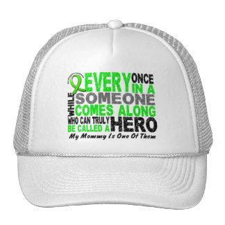 Lymphoma Non-Hodgkins HERO COMES ALONG 1 Mommy Trucker Hat