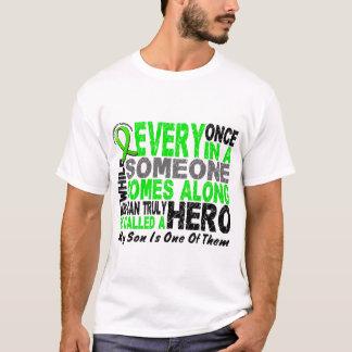Lymphoma Non-Hodgkins HERO COMES ALONG 1 Son T-Shirt
