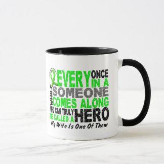 Lymphoma Non-Hodgkins HERO COMES ALONG 1 Wife Mug