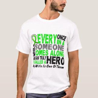 Lymphoma Non-Hodgkins HERO COMES ALONG 1 Wife T-Shirt