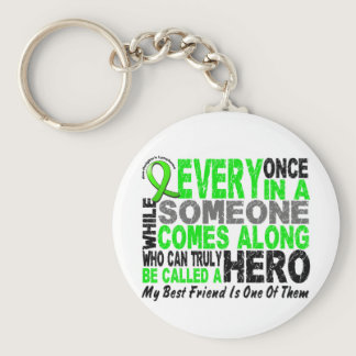 Lymphoma Non-Hodgkins HERO COMES ALONG Best Friend Keychain