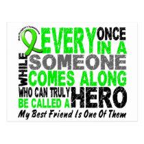 Lymphoma Non-Hodgkins HERO COMES ALONG Best Friend Postcard