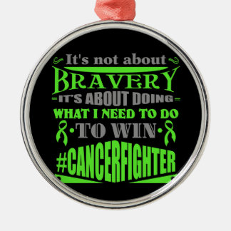 Lymphoma Not About Bravery Christmas Ornament