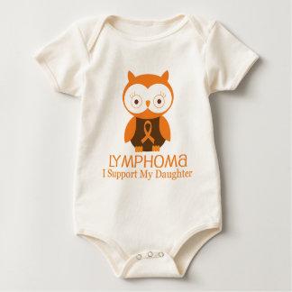 Lymphoma Orange Ribbon Awareness Daughter Baby Bodysuit