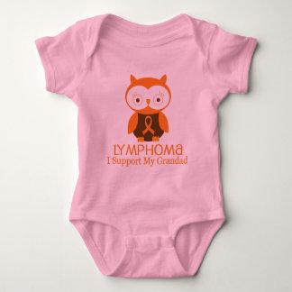Lymphoma Orange Ribbon Awareness Grandad Baby Bodysuit