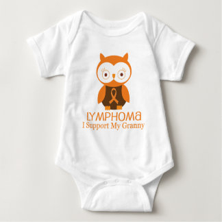 Lymphoma Orange Ribbon Awareness Granny Baby Bodysuit
