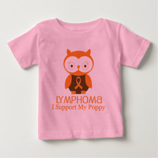 Lymphoma Orange Ribbon Awareness Poppy Baby T-Shirt