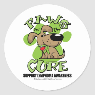 Lymphoma Paws for the Cure Round Sticker