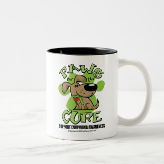 Lymphoma Paws for the Cure Two-Tone Coffee Mug