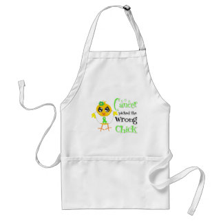 Lymphoma Picked The Wrong Chick Apron