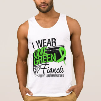 Lymphoma Ribbon For My Fiancee T Shirts