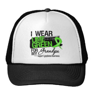 Lymphoma Ribbon For My Grandpa Hats