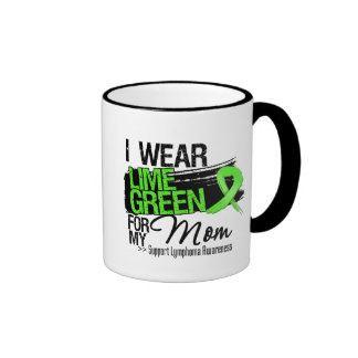 Lymphoma Ribbon For My Mom Ringer Coffee Mug