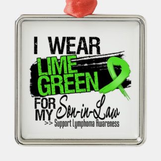 Lymphoma Ribbon For My Son-in-Law Christmas Tree Ornament