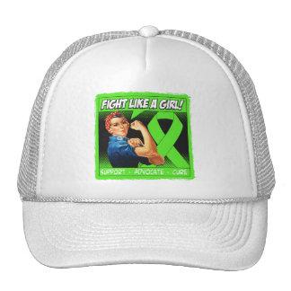 Lymphoma Rosie Riveter - Fight Like a Girl Mesh Hats