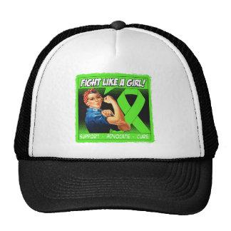 Lymphoma Rosie Riveter - Fight Like a Girl Trucker Hats